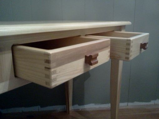 Custom Made Solid Ash Two Drawer Desk