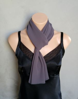 Custom Made Purple Taupe Chiffon Scarf