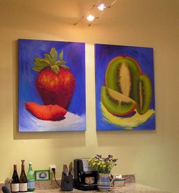 Custom Made Oil Paintings Of Fruits For Remodeled Kitchen