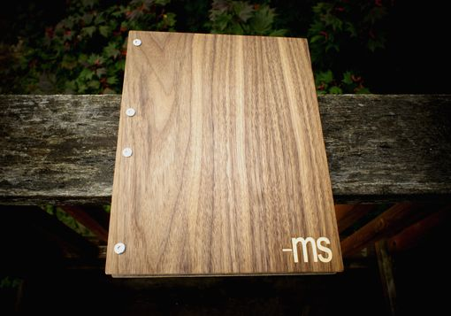 Custom Made Custom Request Double Wooden Walnut Portfolio/Album/Heirloom/Wedding