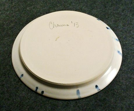 Custom Made Blue Accented Medium Plate