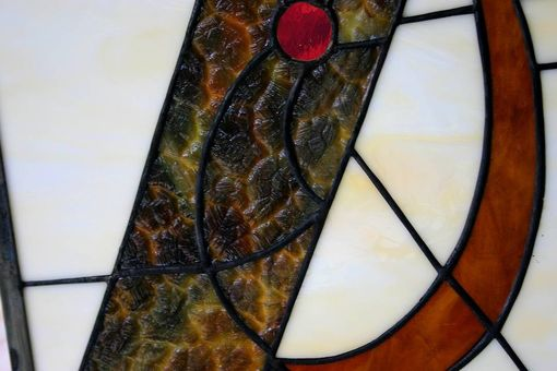 Custom Made Stained Glass Archery Window