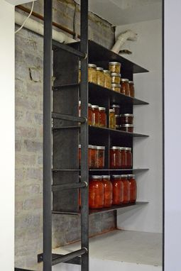 Custom Made Blackened Steel Pantry Shelving