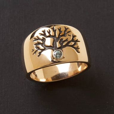 Custom Made Tree Of Life Wedding Ring ©