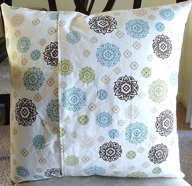 Custom Made Cathedral Window Pillow Cover - Koi Pond