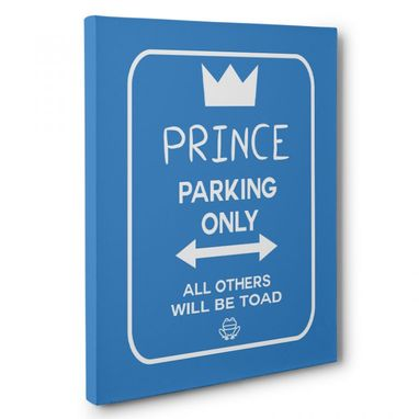Custom Made Prince Parking Canvas Wall Art