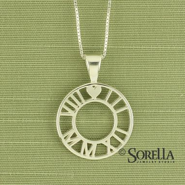 Custom Made Personalized Roman Numeral Pendant In Sterling Silver