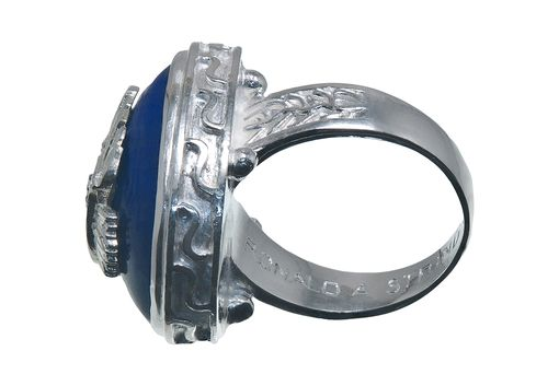 Custom Made Silver Overlaid Custom Ring