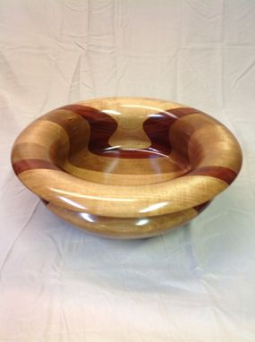 Custom Made Fifteen Inch Handmade Maple Cherry Padouk Bowl