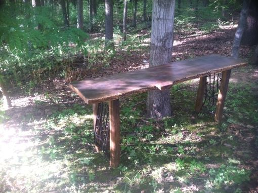 Custom Made Live Edge Hall Or Sofa Table