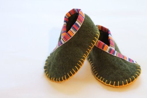 Custom Made Baby Booties, 100% Wool Felt, Fortune Cookie Wrap, Eco Friendly, Photo Prop, Super Soft