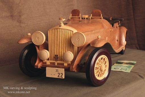 Custom Made Classic Car Wooden Model / Wood Carving