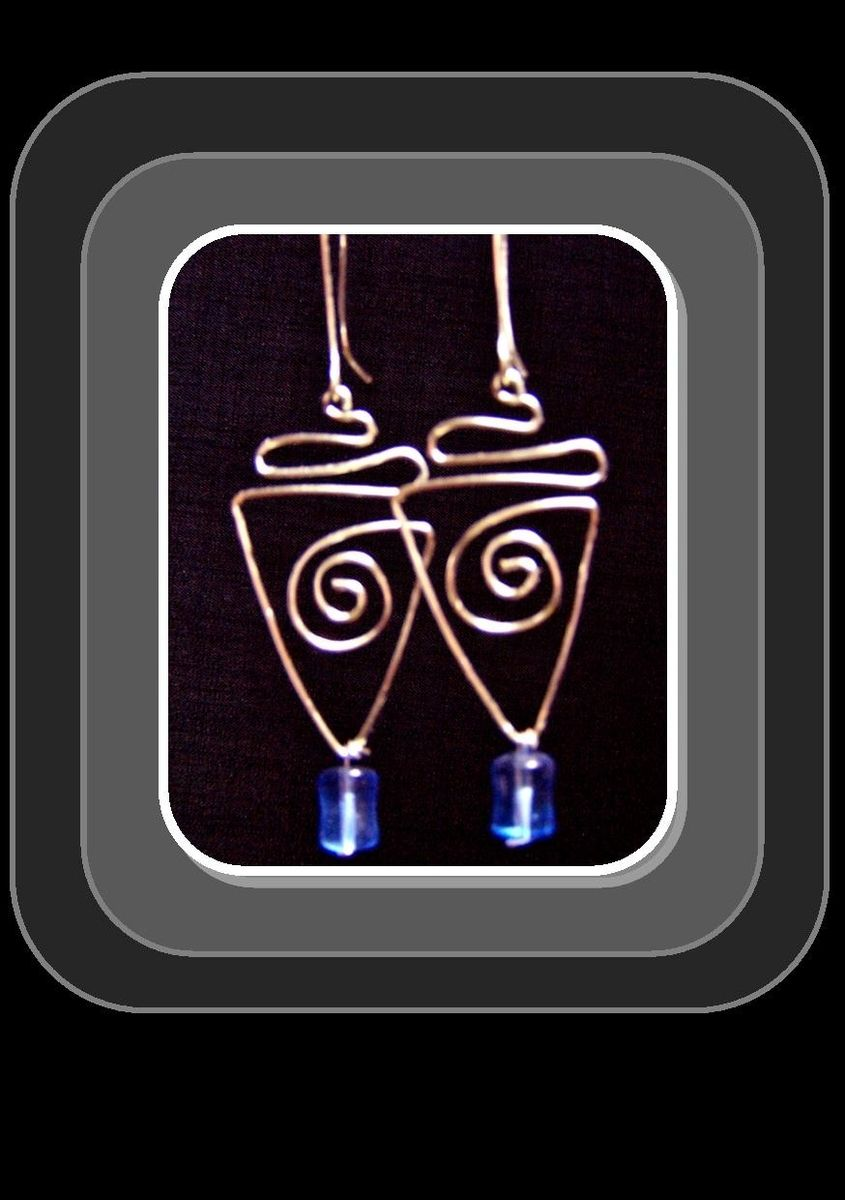 taxco earrings index pyramid carved mexico artistic silver