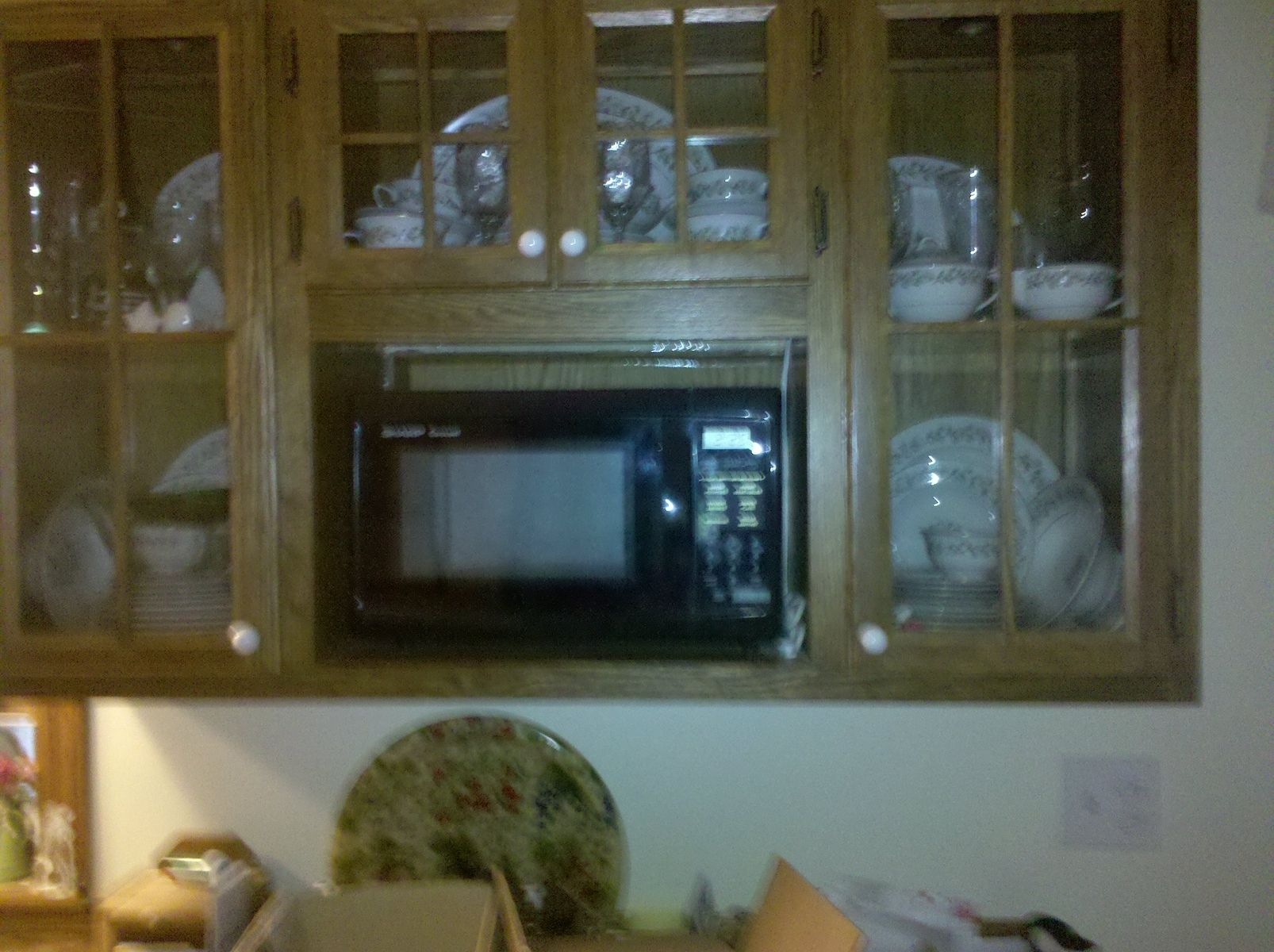 handmade china cabinet with microwave shelf by rats wood creations