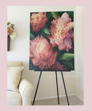 Custom Made Large Scale Floral Painting