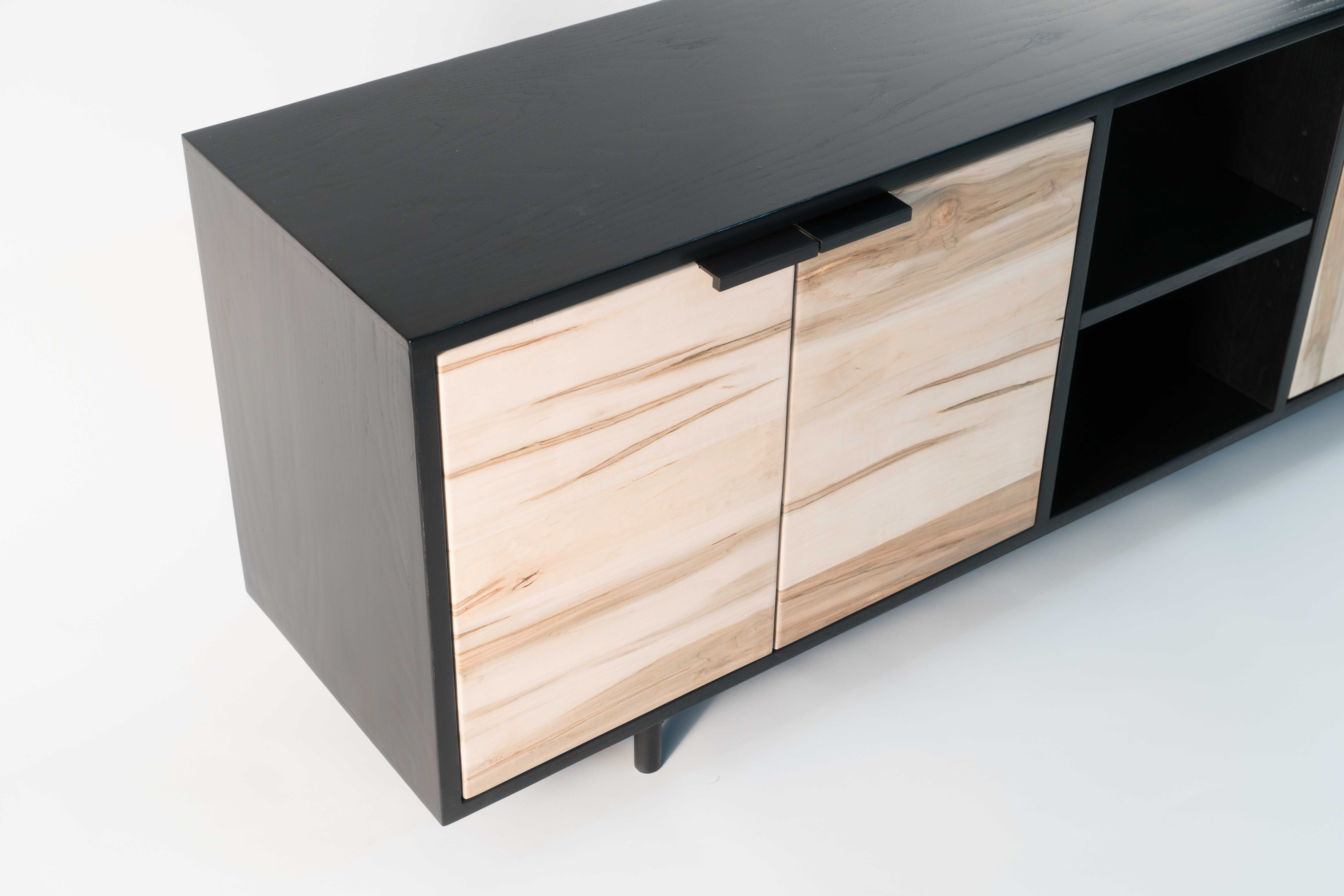 Buy a Hand Crafted Credenza Two - Ambrosia Maple/Black Ash, made ...