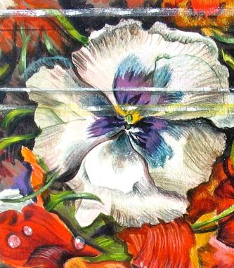 Custom Made Edible Flowers Art Painted In Fool Your Eye Style