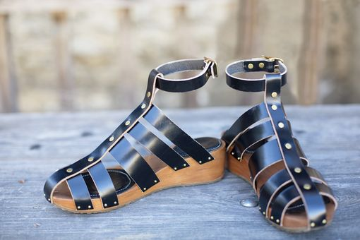 Custom Made Womens Shoes - Wedge Gladiator Sandals