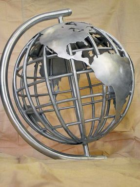 "Custom Made 24"" Diameter Aluminum Globe"