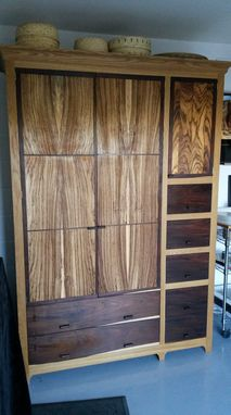 Custom Made Large Armoire Built To Store Wool