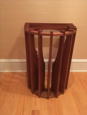 Custom Made Sunburst Side Table (Top Glass Is Missing In This Picture)
