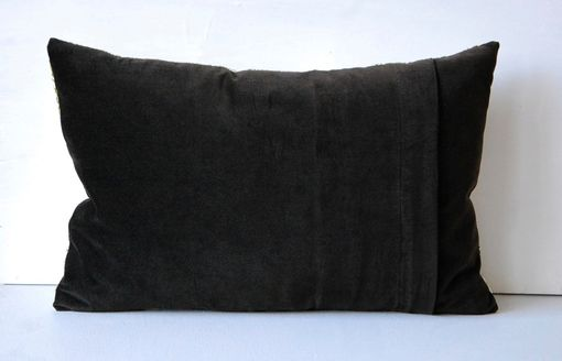 Custom Made Grey, Black And Blue 12x20 Pillow