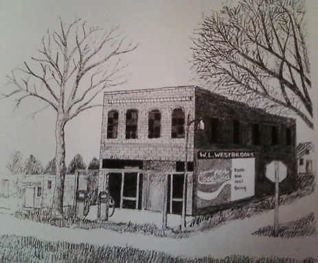 Custom Made Landscape Pen And Ink Drawings