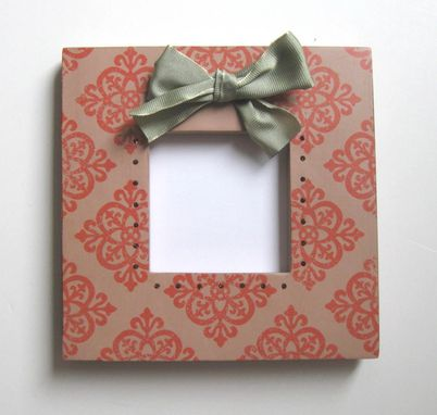 Custom Made Housewares Pink Photo Frame Ribbon Embellishment