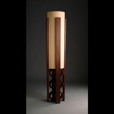 "Custom Made ""Galene"" Black Walnut Floor Lamp"