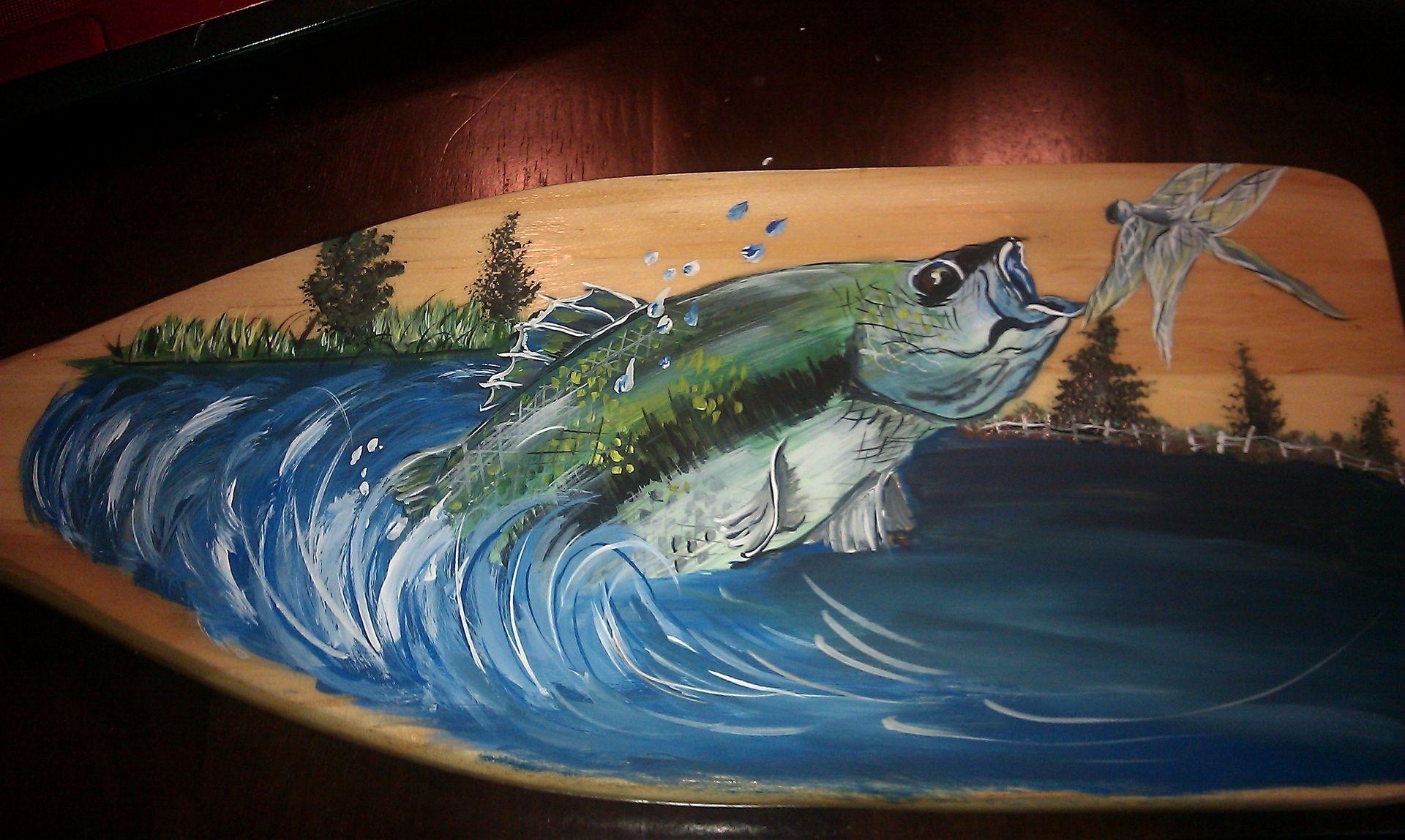Handmade Handpainted Boat Oar By Custom Craft Shed