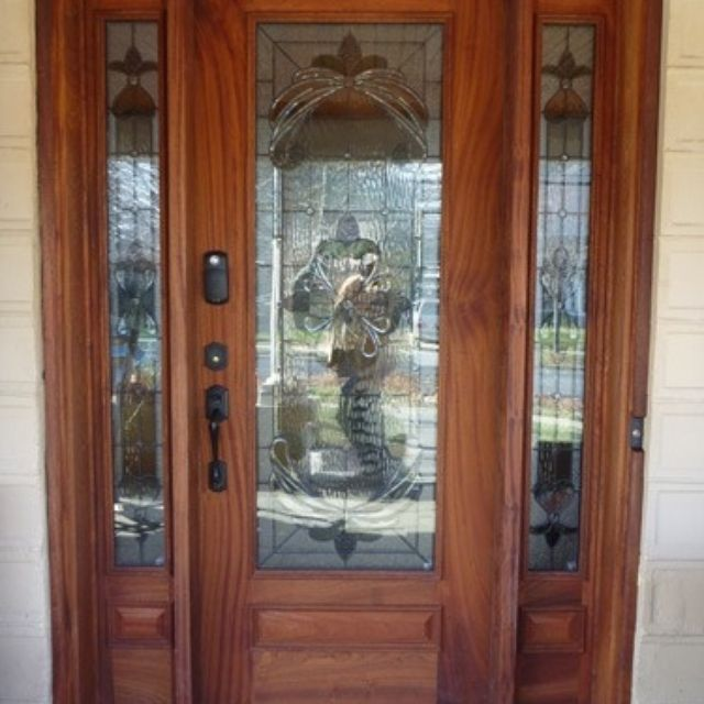 Hand Made Front Door W/Sidelights by AJC Woodworking | CustomMade.com