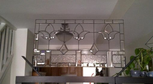 Custom Made Elegant Beveled - Stained Glass Transom Window (Tw-13)