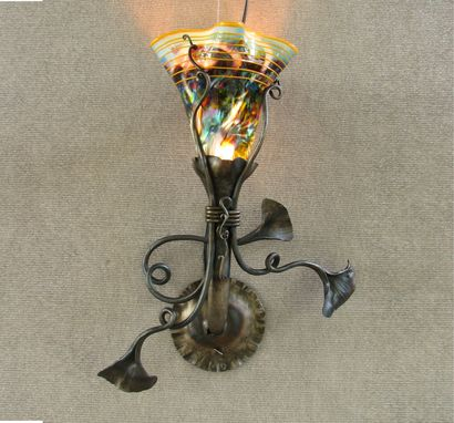 Custom Made Off The Wall Electric Sconce