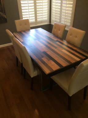 Custom Made Maple Dining Table With Contrasting Pieces