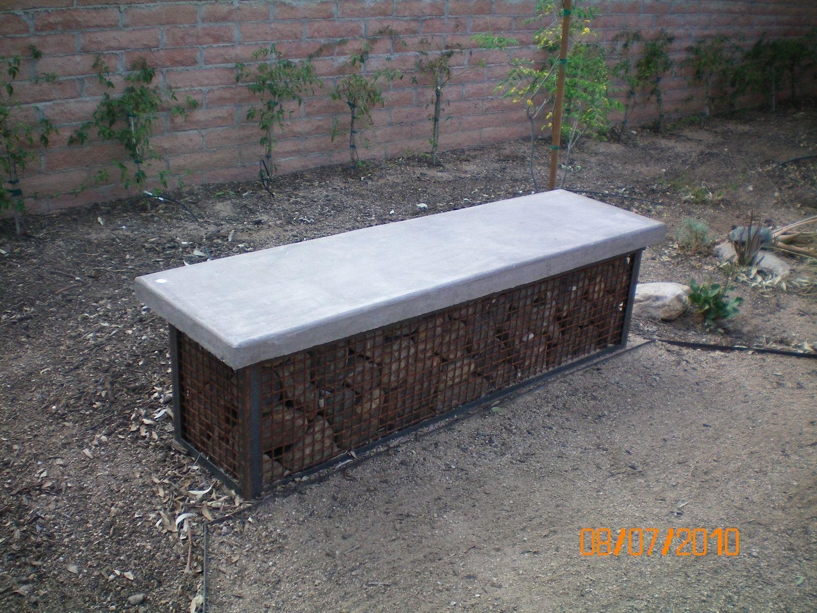 Enjoyable Handmade Gabian Garden Bench By Simpatico Builders Inc Inzonedesignstudio Interior Chair Design Inzonedesignstudiocom