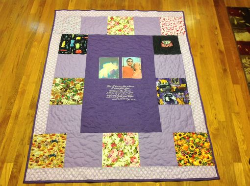 Custom Made Custom Embroidered Photo Mother's Day / Special Occasion Quilt