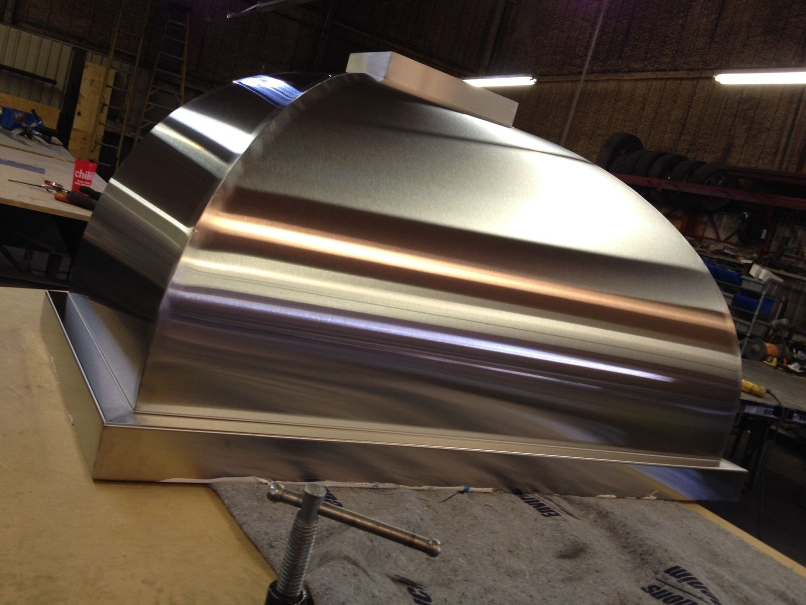 Hand Made Curved Stainless Steel Range Hood By Kitchen