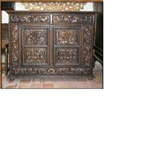 Custom Made Cab-25 Inlaid 3 Door Credenza