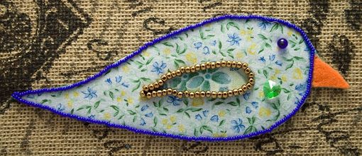 Custom Made Litle Birdie Bead Embroidery