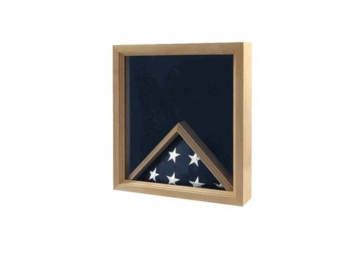 Custom Made Military Insignia And Flag Display Case