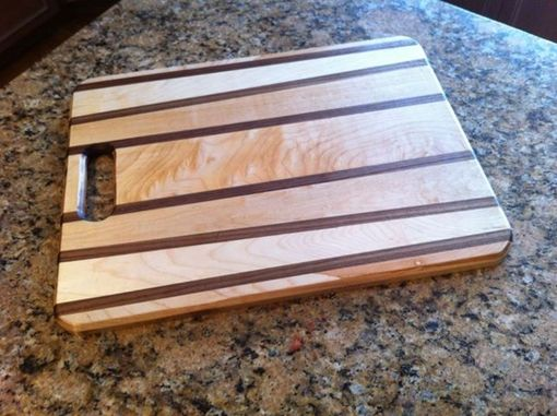 Custom Made Maple And Walnut Cutting Board And Matching Cheese Plate