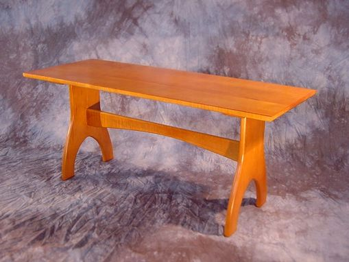 Custom Made Curly Maple & Maple Contemporary Shaker Coffee Table