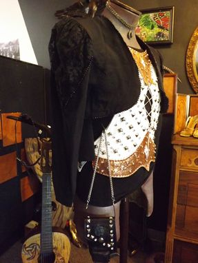 Custom Made Rock N Roll Leather Top