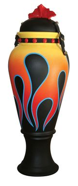 Custom Made Classic Flame Biker Urn