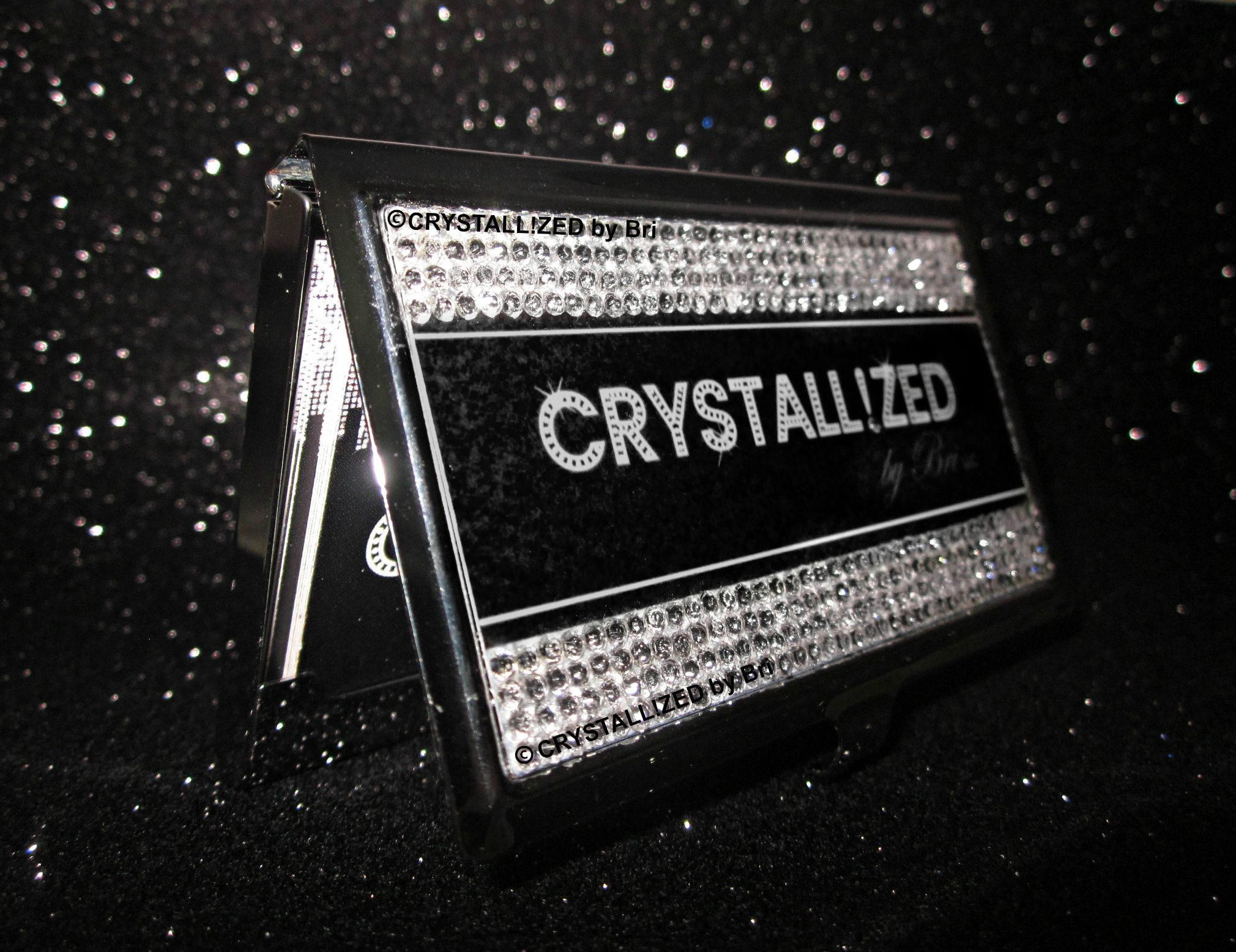 Hand made crystallized custom business card holder made with custom made crystallized custom business card holder made with swarovski crystals colourmoves