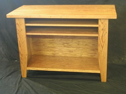 Custom Made Custom Oak Entertainment Center