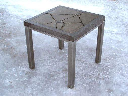 "Custom Made ""Broken Man"" Concrete Table"