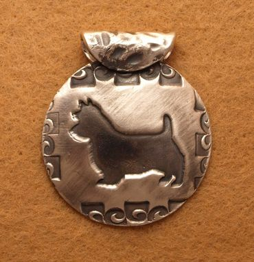 Custom Made Round Australian Terrier Necklace -Md