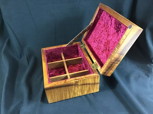"Custom Made ""Sold "" Jewelry Box Hawaiian Koa With Rose"