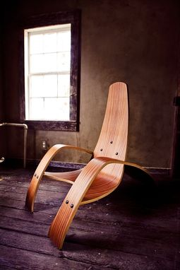 Custom Made Bent Plywood Lounge Chair